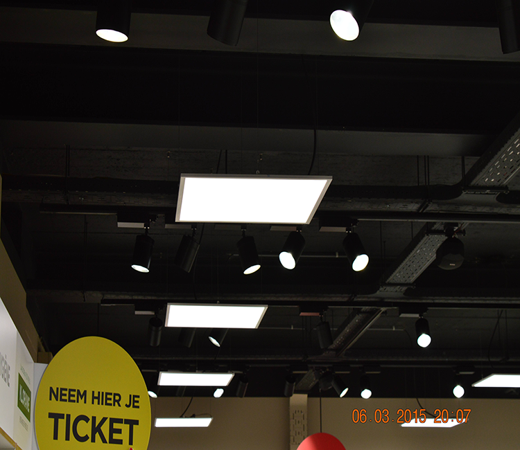 9. suspended led panel installation example