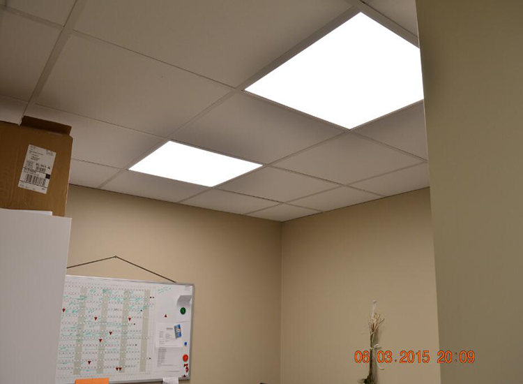 7. recessed led panel installation example