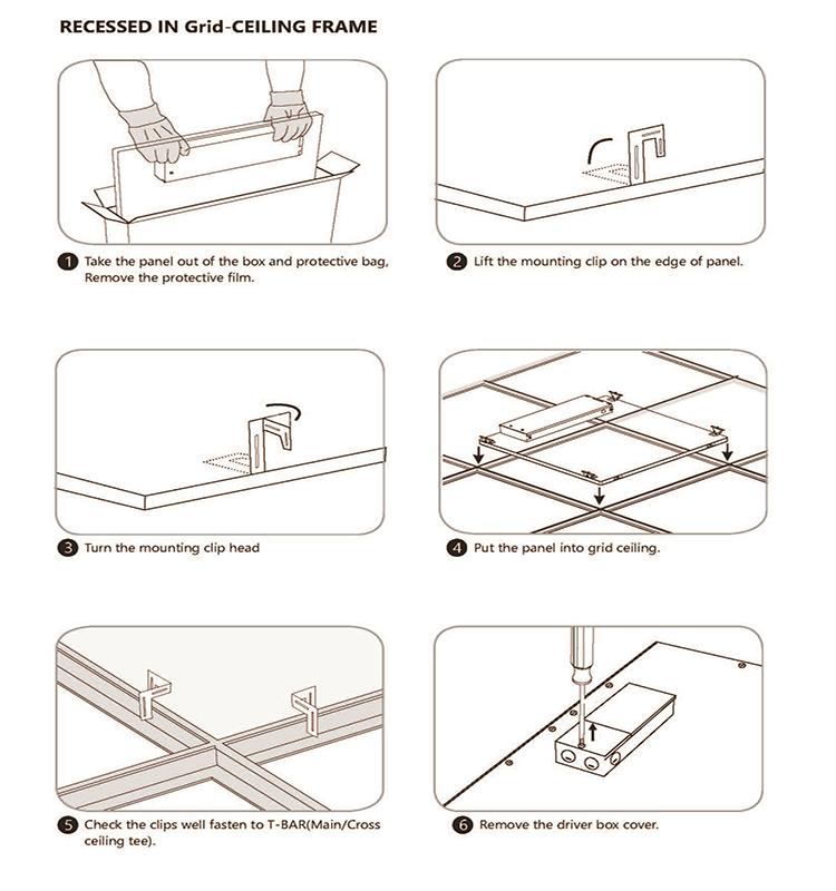 11. ul led panel light installation guide