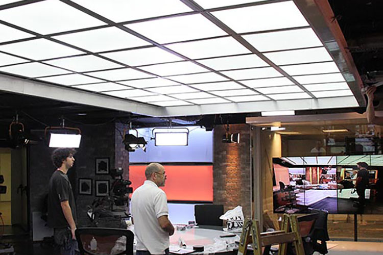 13. led panel light in TV station lighting-Application